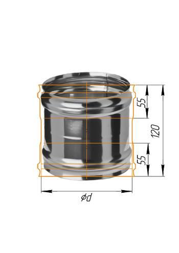 Адаптер котла ∅ 100 (439 / 0,8)