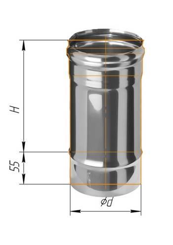 Дымоход 0,25 ∅ 80 (430 / 0,5)