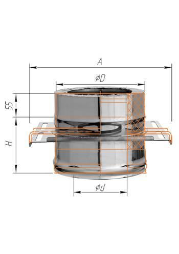 Площадка монтажная (нерж.) ∅ 200×280 (430 / 0,5)