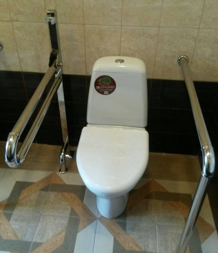 Ограждение в санузлах (для инвалидов)