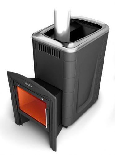 Банная печь Тунгуска 2011 Carbon Витра антрацит (Термофор)