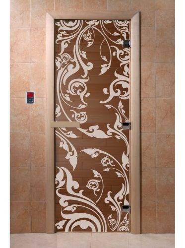 Дверь для бани Венеция, бронза